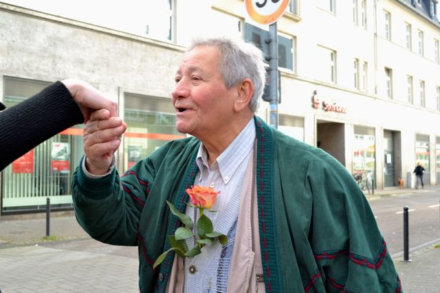 Man with a rose
