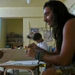 Rio de Janeiro _ nella favela vidigal... lezione di pintura e sport